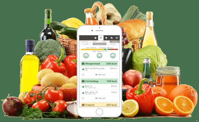 Kalorieberegner - Gratis - Tæl kalorier og tab dig - Start